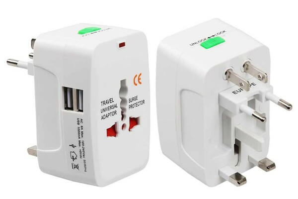 Universal Travel Adapter with USB Sockets