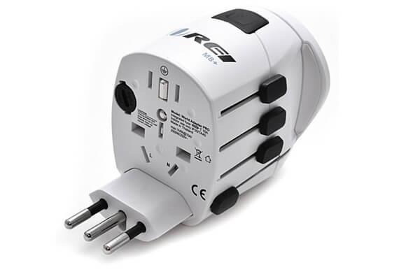 Orei M8 Plus All-in-One Grounded International Worldwide Travel Plug Adapter with Dual USB Charger