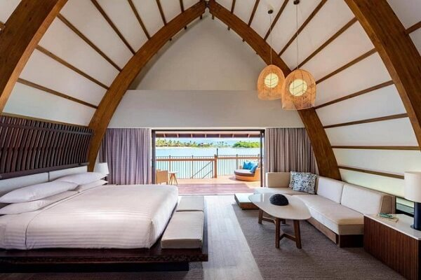 Inside Overwater Villa at Fiji Marriott Resort Momi Bay